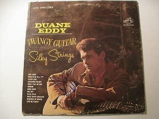 Duane Eddy Autographed Twangy Guitar Silky Strings vinyl LP COA