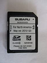 SG620 2014 SUBARU FORESTER 14 SD NAVIGATION CARD , MAP UPDATE VERSION 2012 Q3 FOR NORTH AMERICA, USA / CANADA PART NUMBER 86283SG620