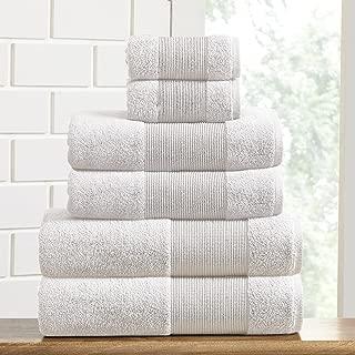 Amrapur Overseas Air Cloud 100-Percent Combed Cotton Towel Set, 6-Piece, White
