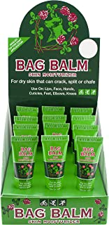 Bag Balm Vermont's Original 12 Pack Lip Moisturizer for Dry Lips, Skin, Cracked Heals, Dry Elbows, Chafing