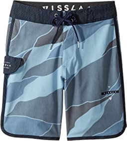 "VISSLA Kids Bordertown Four-Way Stretch Boardshorts 17"" (Big Kids)"