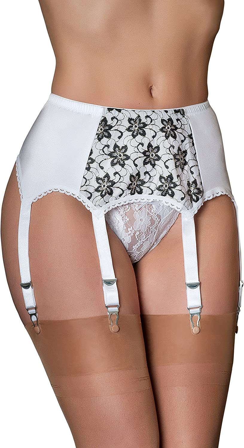 Nancies Lingerie Floral Lace 6 Stockings Belt for Garter Limited Tampa Mall time sale Strap