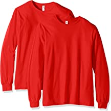 تي شيرت رجالي بأكمام طويلة من Fruit of the Loom (عبوتان) -  Fruit of the Loom Long Sleeve T-shirt (2 Pack) Medium