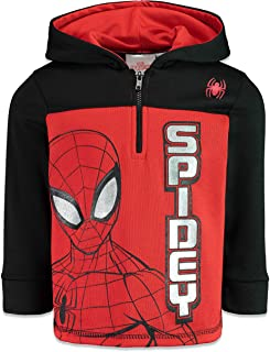 Marvel Avengers Boys Half-Zip Fleece Pullover Hoodie
