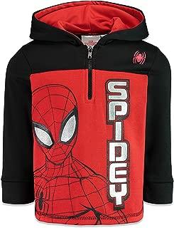 Marvel Spiderman Boys Fleece Half-Zip Pullover Hoodie