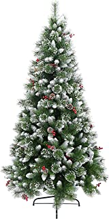 HOLIDAY STUFF Frosted Sweet Pine Decorated Artificial Christmas Tree (7ft)
