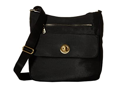 Baggallini International Antalya Top Zip Flap Crossbody (Black) Cross Body Handbags