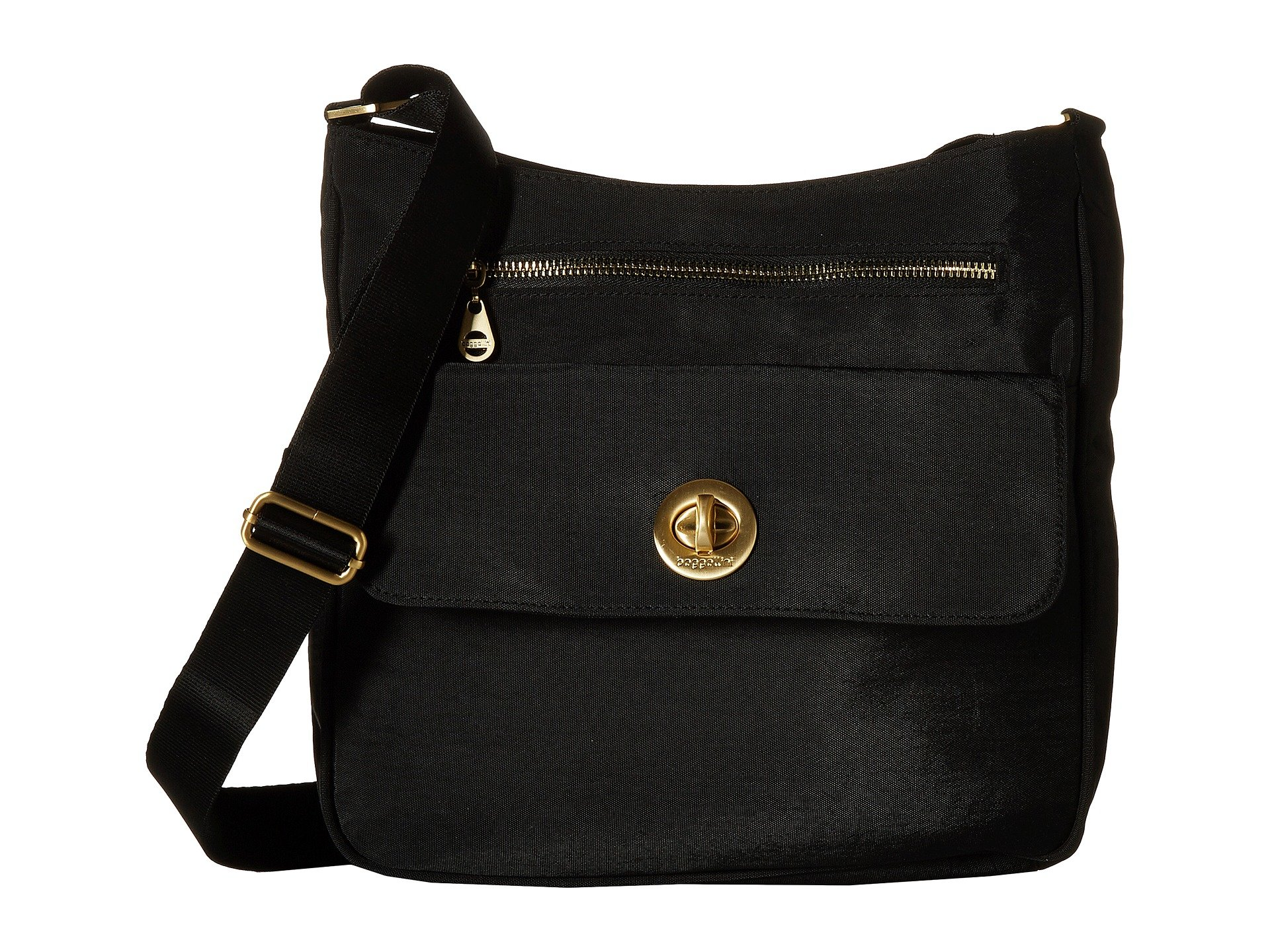 Black Flap Zip Top Baggallini Antalya Crossbody wqFX14n8S