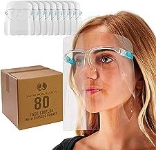 TCP Global Salon World Safety Face Shields with Glass Frames (20 pacotes de 4) - Proteção Ultra Transparente Protetor Comp...