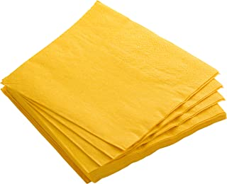 Exquisite 300 Pack of Luncheon Paper Napkins The 2 Ply Party Napkins are Highly Absorbent and Available in a Wide Range of Vibrant Colors - Yellow Napkins