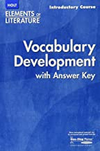 Elements of Literature: Vocabulary Development with Answer Key, Introductory Course