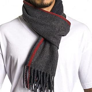 Mens Plaid Scarf Soft Winter Scarves Unisex