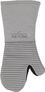 All-clad textiles Premium Collection peso pesado 100% algodón de sarga y silicona manopla de horno, Titanio, 1