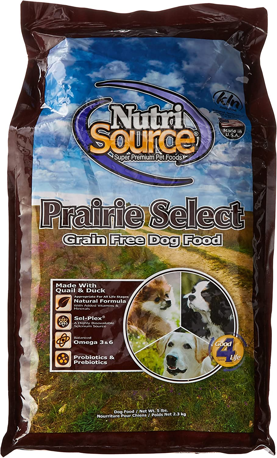 NutriSource Grain Free Prairie Select with Quail Dog Food 5lb by NutriSource Grain Free Prairie Select with Quail Dog Food