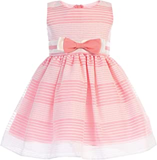 26a7033317e Lito Girls Easter Dress - Girls Striped Organza Spring Dress - Baby Girls  Easter Dress -