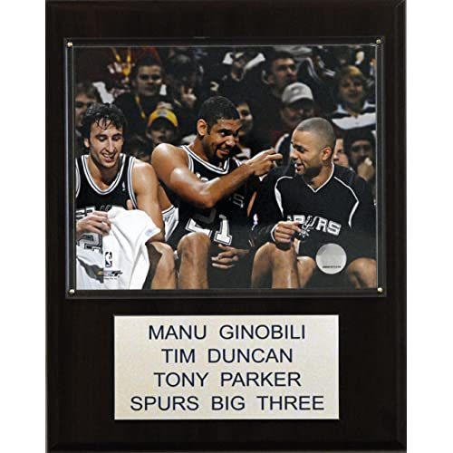 NBA Ginobili-Duncan-Parker San Antonio Spurs Player Plaque