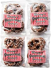 Made In USA Pack of 4 Milk Chocolate Peppermint Crunch Covered Christmas Pretzels (1lb total)