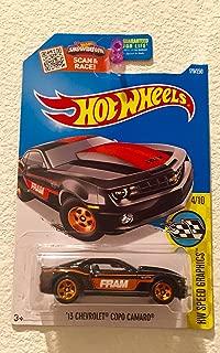 NEW Hot Wheels 13' CHEVROLET COPO CAMARO (BLACK) 4/10 Speed Graphics 179/250