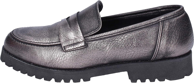 OLGA RUBINI Loafers-shoes Womens Grey
