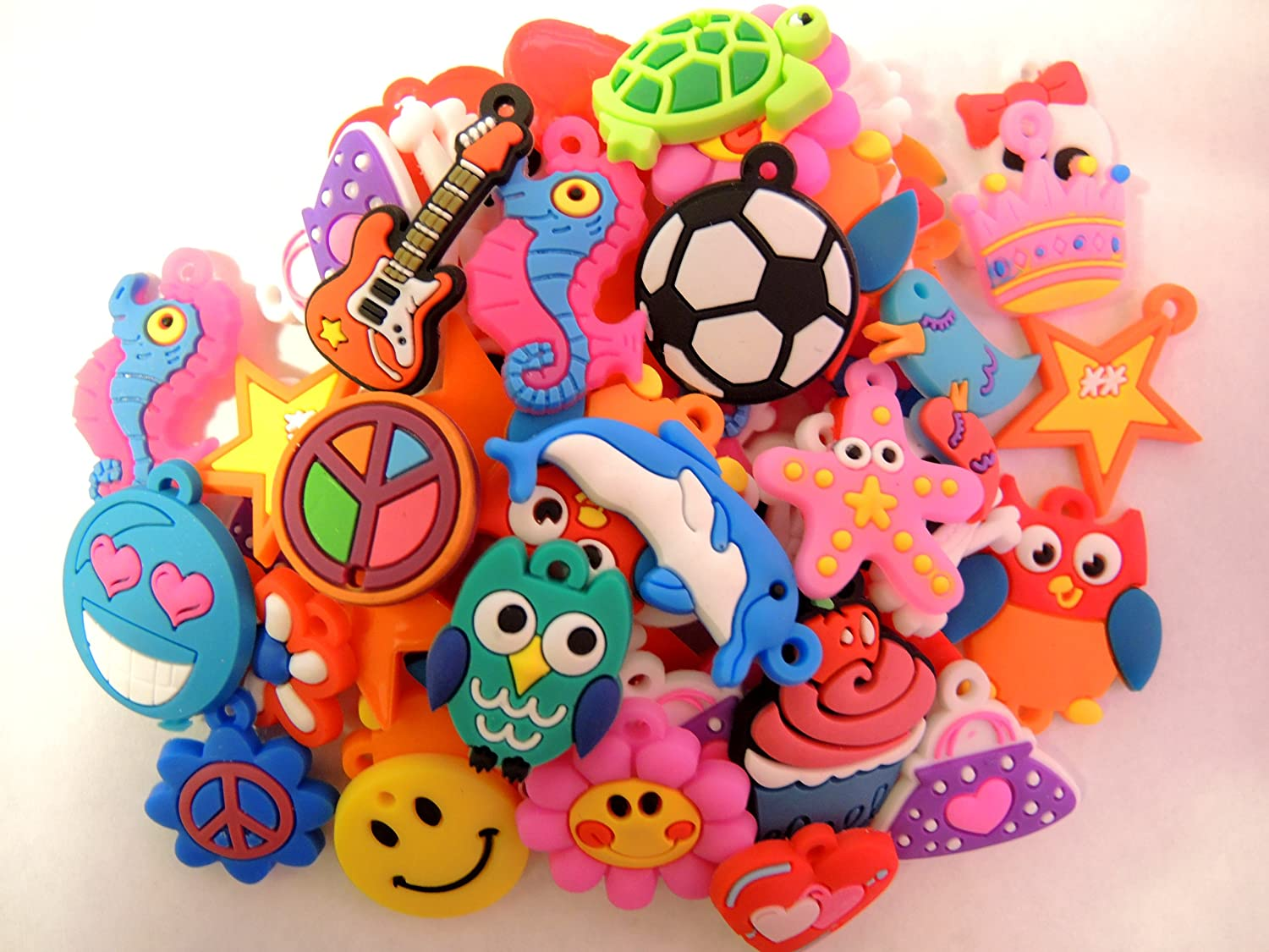 auténtico 1 X 105 Assorted Rubber Charms by Buy_Stuff_Here_Looms     Compra calidad 100% autentica
