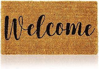 Natural Coir Doormat, Welcome Mats for Front Door (30 x 17 in)