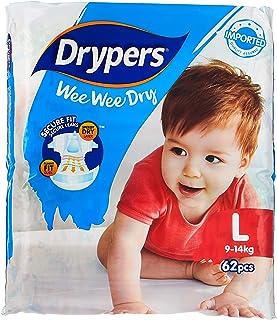Drypers Wee Wee Dry, L, 62ct (Pack of 3)