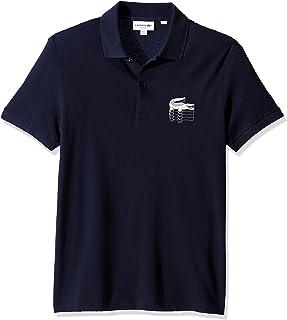 Lacoste Men's S/S Graphic Croc Petit Pique Polo Slim Fit