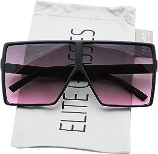 5325d2f5f97 Oversized Exaggerated Flat Top Huge SHIELD Square Sunglasses Colorful Lenses  Fashion Sunglasses