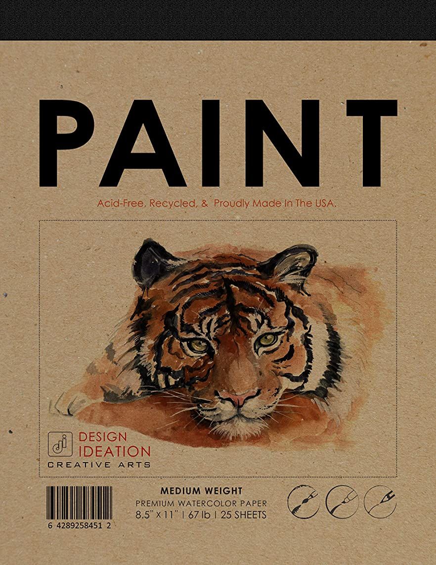 Design Ideation Paint : Premium Paper Watercolor Pad for Pencil, Ink, Marker and Watercolor Paints. Great for Art, Design and Education. (1 Pad)
