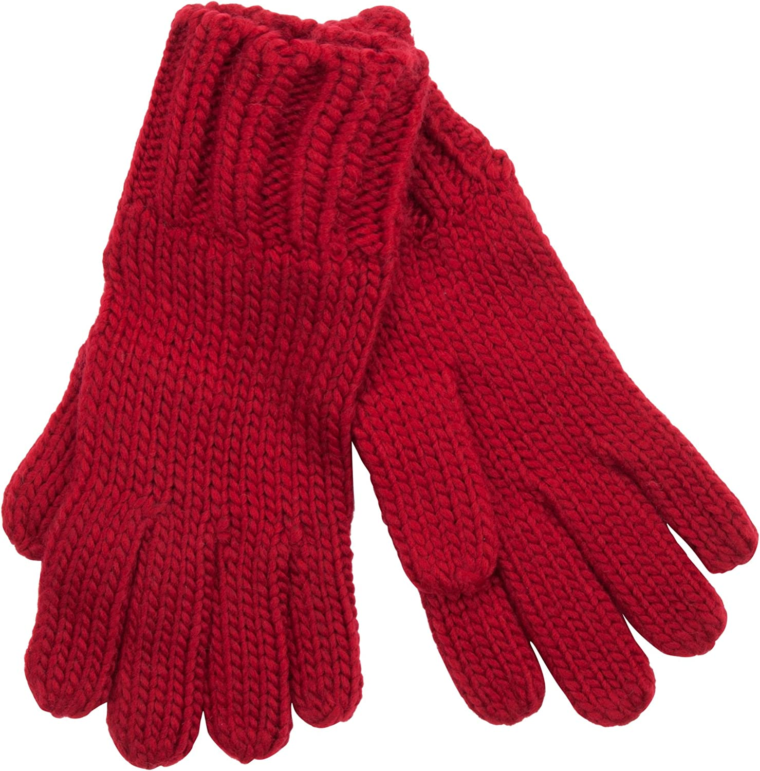Isaac Mizrahi Women's Twisted Cable Knit Gloves with Rib Trim