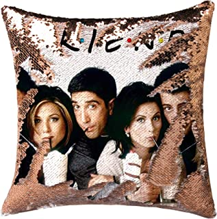 cygnus Friends TV Show Merchandise Sequin Pillow Cover Mermaid Color Change Flip Cushion Cover Funny White Elephant Gifts ...