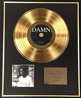 Kendrick Lamar - Exclusive Limited Edition 24 Carat Gold Disc - Damn