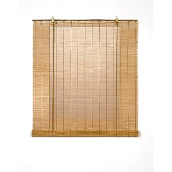 Solagua 6 Modelos 14 Medidas de estores de bambú Cortina de Madera persiana Enrollable (150 x 175 cm, Marrón): Amazon.es: Hogar