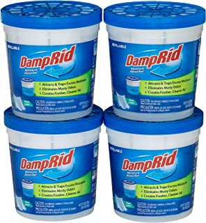 DampRid Pure Linen Refillable Moisture Absorber - 10.5oz cups - 4 pack – Traps Moisture for Fresher, Cleaner Air