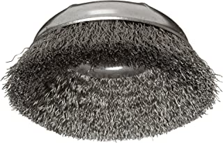 Weiler Wire Cup Brush, Threaded Hole, Steel, Crimped Wire, 3