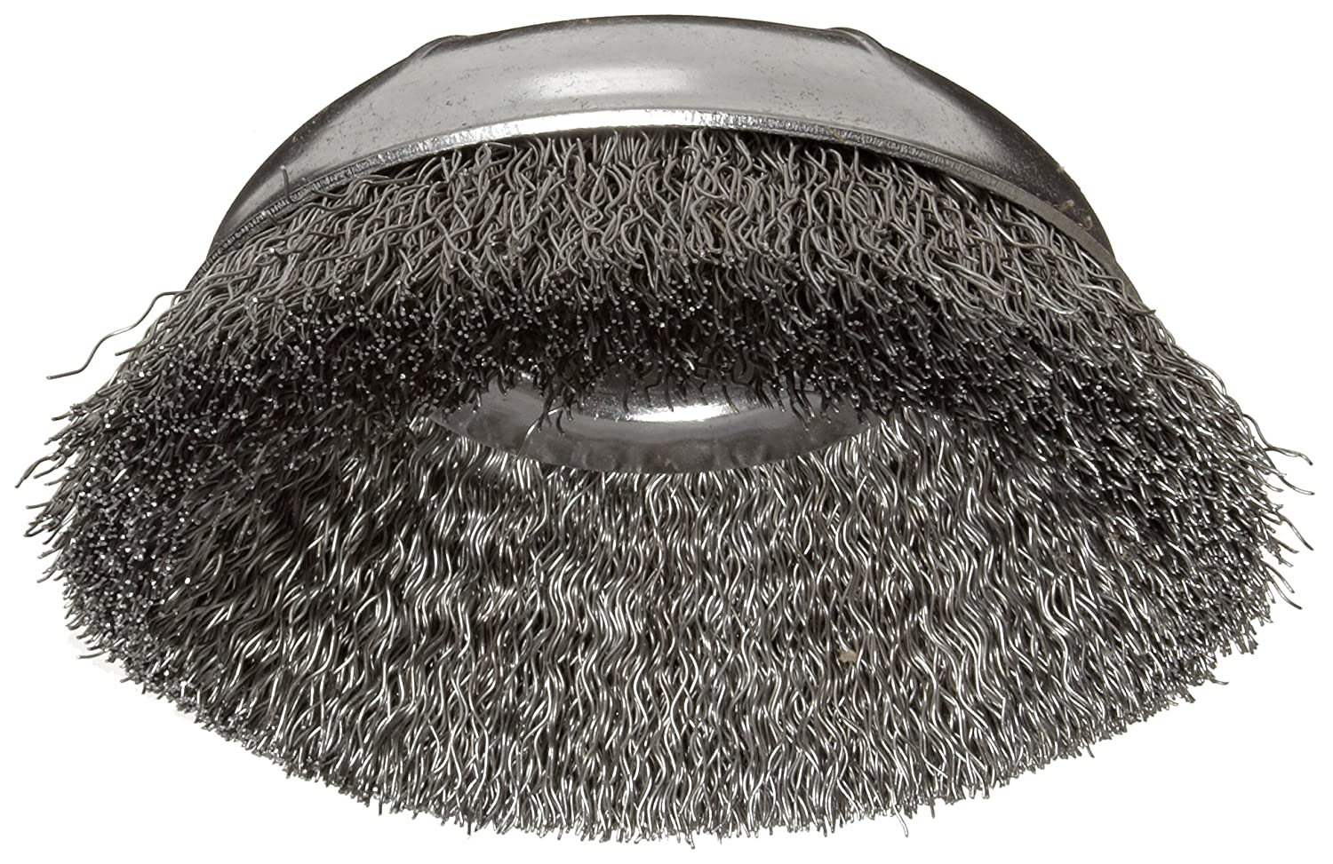 Weiler Wire Cup Brush 0.014 Wire Diameter 3//8-24 Arbor 3 Diameter Pack of 1 Steel 1 Bristle Length Threaded Hole 14000 rpm Crimped Wire