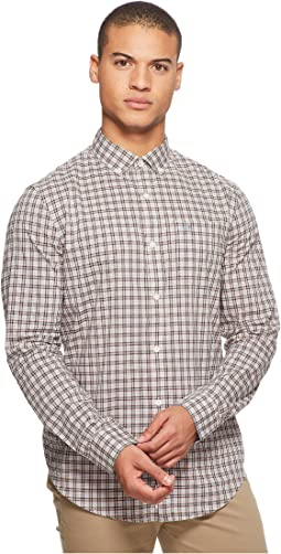 Original Penguin Long Sleeve Stretch P55 Plaid Shirt