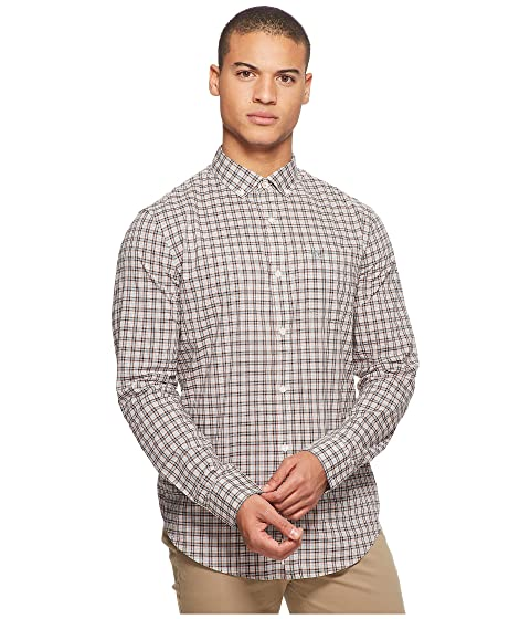 Original Penguin Long Sleeve Stretch P55 Plaid Shirt Crabapple Outlet Looking For LPXRz