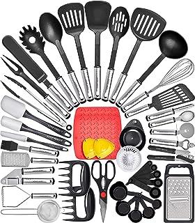 Home Hero Kitchen Utensil Set Cooking Utensils Set - Nylon Kitchen Utensils Set Kitchen Tool Set 44 Pcs. Cooking Utensil Set Kitchen Set Spatula Set Kitchen Gadgets Kitchen Tools Kitchen Accessories