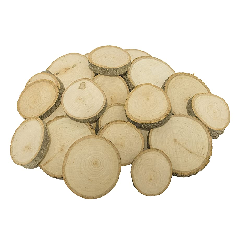Walnut Hollow Piece Bulk Extra Small Basswood Coasters, Ornaments, Weddings and Craft Projects Baswood Round Assortment 25 Pack,
