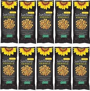 Sunflower Food Co Honey Roasted Sunflower Kernels 1.2 oz Bags 10 Pack – Non-GMO Sunflower Seeds Single Serving Snack – Kosher