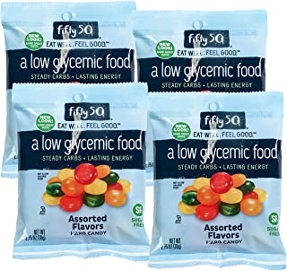 Fifty 50 Foods Kosher Sugar Free Assorted Fruit Hard Candy, 2.75 Ounce (Pack of 4)