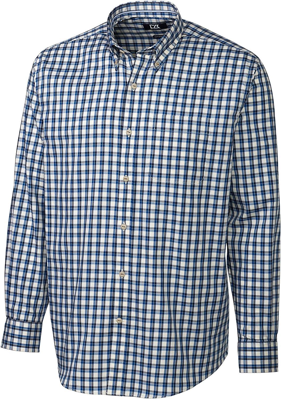 Cutter & Buck Men's Big-Tall Long Sleeve Lake Plaid Woven Shirt