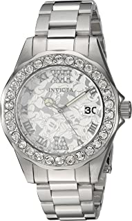 Women's Disney Limited Edition Quartz Watch with Stainless-Steel Strap, Silver, 9 (Model: 22869)