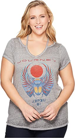 Lucky Brand Plus Size Journey Cold Shoulder Tee
