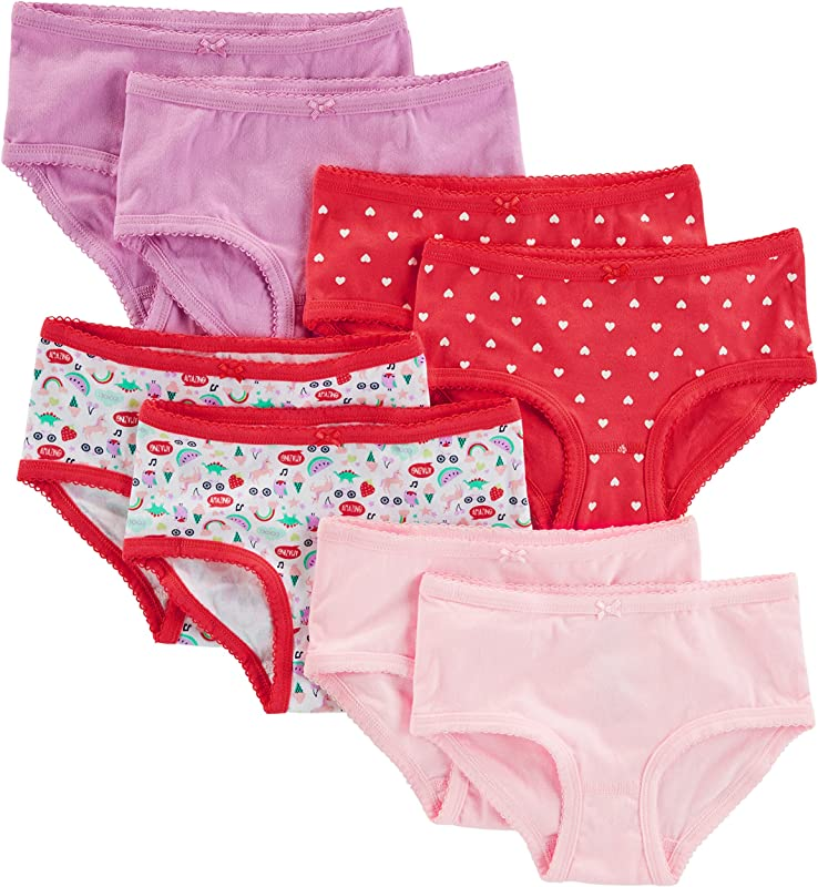 Simple Joys By Carter S Little Kid And Toddler Girls 8 Pack Underwear
