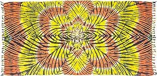 MANUMAR pareo mare donna opaco bikini wrap cover up sauna hamam lunghi beach dress telo mare sarong Windstraw blu turchese XXL grande formato 215 x 115 cm,telo abito estivo in look hippie