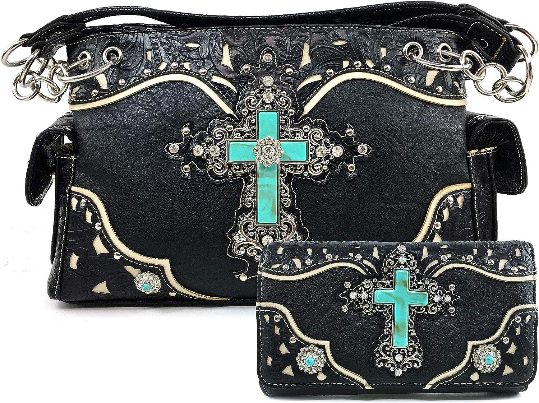 Zelris アウトレットセール 特集 Turquoise Rhinestone Cross <セール&特集> Western Conceal Carry Women Ha