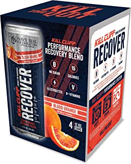 Kill Cliff Electrolyte Recovery Drink, Blood Orange, 12 Ounce, 4 Count; Low Cal, No Sugar