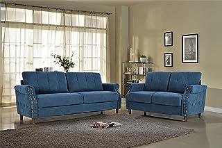 Amazon.com: Blue - Living Room Sets / Living Room Furniture: Home ...